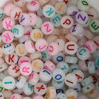 7mm Glow in Dark Assorted Alphabet Letter acrylic Beads diy name bead 100pcs/bag