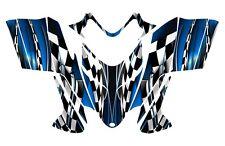 POLARIS SHIFT IQ RMK DRAGON graphics wrap snowmobile sticker kit NO2500 Blue