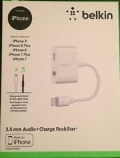 Belkin Charge RockStar Headphone Jack Adapter w/ 3.5mm Audio for iPhone NEW
