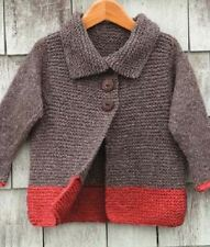 Knitting Pattern Girl's Easy Little Aran Coat Chest Size 20 - 25 in