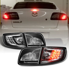 Black 2003-2008 Mazda 3 Mazda3 Lumileds LED Tail Lights Brake Lamps Left+Right