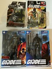 Lot Of 4 Hasbro G I Joe Snake Eyes Roadblock Classified Crock Master 25th & More