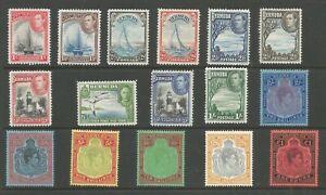 BERMUDA  SG110-21, 1938-52 GVI SET 16  MOUNTED MINT,CAT £350 SEE SCANS