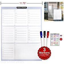 Smart Planner Weekly Multi-Purpose Magnetic Refrigerator Dry Erase Board Markers
