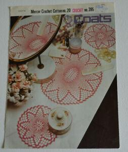 crochet pattern mat doily dressing table set