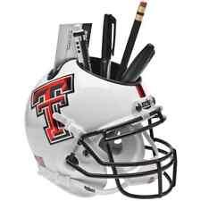 TEXAS TECH RED RAIDERS NCAA Schutt Mini Football Helmet DESK CADDY (ALT WHITE)