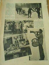 Pompiers Allemand en patins à l'aide d'une moto pompe sinistre Print 1937
