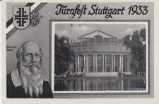 Ansichtskarte Stuttgart  Deutsches Turnfest 1933  Turnvater Jahn