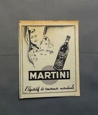 PUB PUBLICITE ANCIENNE ADVERT CLIPPING 100517 MARTINI L'APERITF RENOMMEE MONDIAL