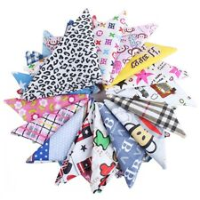 10Pcs Mixed Dog Bandana Triangle Bibs Scarf Neck Accessories For Puppy Cat Pet