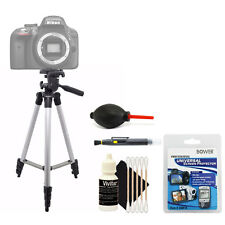 Tall Tripod + Cleaning Accessory Kit for Nikon D5600 and D5500