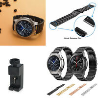 Solid Stainless Steel Strap Band 22mm for Samsung Gear S3 Frontier & Classic