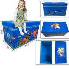 Large New Folding Storage Toy Box Foot Stools Boys Girls Books Chest Clothes