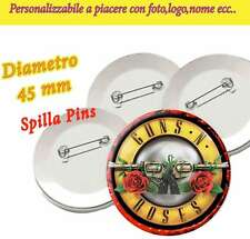 Spilla 4,5 cm Spillina Pins Collezione Guns N'Roses GNR Not in this Lifetime Tou