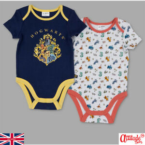 Harry Potter Baby 2 Pack Baby Grows-Official Baby Harry Potter 2 Pack Baby Grows