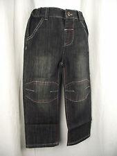 BNWT Boys Sz 1 Black Denim Urban Crusade Long Elastic Waist Straight Leg Jeans