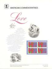#9 8c Love Robert Indiana #1475  USPS Commemorative Stamp Panel