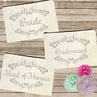 Canvas Pouch Tote Wedding Bag Bridal Bride Bridesmaid Hens Night Shower Gift