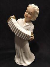 Schaubach Kunst Schau Bach Germany German Porcelain Figure Accordion Lady Woman