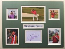 """Golf Miguel Angel Jimenez Signed 16"""" X 12"""" Double Mounted Display"""