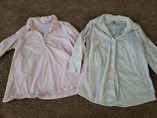 Maternity Shirt Lot Size Medium,  Button Up Top, Pink 3/4 Sleeve Shirt