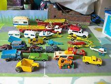 JOB lot scatole fiammiferi Corgi auto camion autopompa Mercedes BEDFORD MERCURIO Scammell