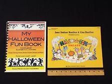 NEW-my halloween fun book-elizabeth c.axford songbook & bastien treats-primer