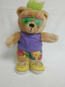 Applause Jam Bear Buff Three Cheers Plush Bear 12 Inch Vintage 1988 Color Block