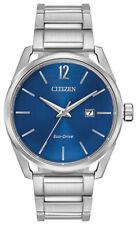 Citizen Eco-Drive CTO Men's Blue Dial Silver-Tone 42mm Watch BM7410-51L