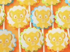 30 BABY SIMBA THE LION KING Cupcake Toppers Birthday Party, Baby Shower Decor 30