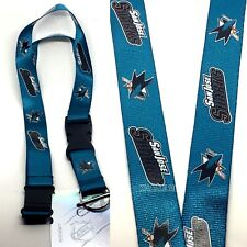 NHL San Jose Sharks Clip On KeyChain Lanyard