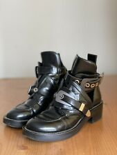 1,5k Authentic Balenciaga Ceinture Black Leather Biker Boots Size EU 37 US 7