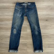 Naked & Famous Denim Selvedge Fades Worn Distressed 32X33 Rock Motorcycle Japan