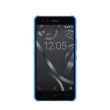 Fundas y carcasas azul Para BQ Aquaris de silicona/goma para teléfonos móviles y PDAs