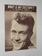 Malcolm Vaughan What Is My Destiny ? From The Destiny Theme. Sheet Music.