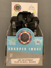 Sharper Image Clip N Roll Adjustable Led Skates Adjustable w/ Brakes New in Box