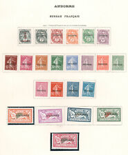 FRENCH ANDORRA 1931 OVERPRINT SET MINT INCL. THE 20fr MNH #1-20 fresh with great