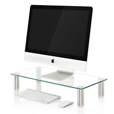 Clear Monitor Riser Adjustable Height Multiple Screen Riser Computer TV Stand