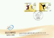 21st Summer Deaflympics Taipei Taiwan 2009 Sport Games Badminton Run (stamp FDC)