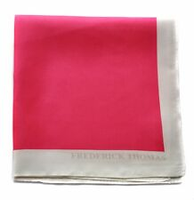 Frederick Thomas bright pink 100% silk pocket square handkerchief FT1669