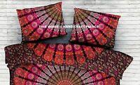 Indien Paon Mandala Taie Oreiller Canapé Décor Housse de Coussin Lit Étui