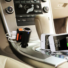 Bluetooth Wireless FM Transmitter for iPhone7 6S Plus W/Extra Cigar ligther Port