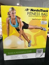 NORDICTRACK 55cm YELLOW EXERCISE BALL- NEW