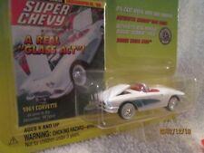 JOHNNY LIGHTNING 1961 corvette chevy white SUPER CHEVY MAGAZINE 1/64 JL
