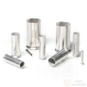 Aderendhülsen blank 0,14 - 50 mm² Endhülsen Kabelhülsen Presshülsen unisoliert