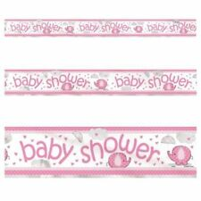 Unique Party 41668lf - 12ft Pink Elephant Baby Shower Banner