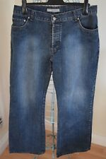 Men's LINEA Jeans House of Fraser Dk Blue Bootcut Faded Size 36R VGC
