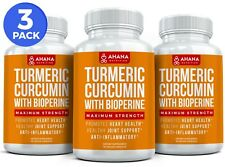 Extra Strength Turmeric Curcumin With BioPerine - Antixoidant Pills (3 BOTTLES)