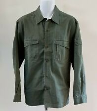 Field Gear Mens L Green Long Sleeve Button Down Work Fish Hunting Shirt Jacket