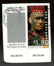 NEW ZEALAND 1996 CAPTAIN COOK SHIPS EXPLORERS FILM TATTOOS VALUE USED